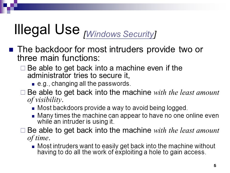 Illegal Use [Windows Security]